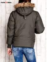 Oliwkowa kurtka z odpinanymi rękawami FUNK N SOUL                                  zdj.                                  2