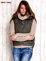 Oliwkowa kurtka z odpinanymi rękawami FUNK N SOUL                                  zdj.                                  4