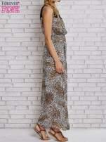 Panterkowa sukienka maxi z koronkowym półgolfem                                  zdj.                                  5