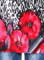 Panterkowy t-shirt z nadrukiem kwiatów                                  zdj.                                  5