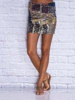 Patchworkowa spódnica mini z zamkiem                                  zdj.                                  8