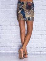 Patchworkowa spódnica mini z zamkiem                                                                          zdj.                                                                         5