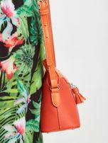Pomarańczowa torebka listonoszka z ekoskóry                                  zdj.                                  2