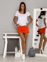 Pomarańczowe gładkie spodenki spódniczka tenisowa                                   zdj.                                  7