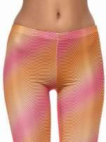 Pomarańczowe legginsy we fluorescencyjne wzory                                  zdj.                                  5