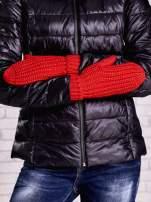 Pomarańczowe proste rękawiczki na jeden palec z grubej wełny                                  zdj.                                  3