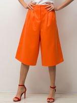 Pomarańczowe spódnicospodnie typu culottes
