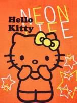 Pomarańczowy t-shirt dla dziewczynki HELLO KITTY z gwiadkami