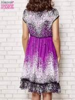 Purpurowa sukienka baby doll w ciapki                                  zdj.                                  2
