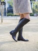 ROCCOBAROCCO brązowe skórzane kozaki genuine leather do kolan z asymetryczną cholewką                                  zdj.                                  2