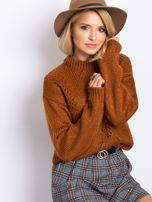 RUE PARIS Brązowy sweter Luca                                  zdj.                                  1