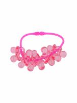 Różowa Bransoletka z zawieszkami w kształcie smoczków - baby shower                                  zdj.                                  2