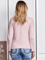 Różowa bluzka z kwiatowym haftem                                  zdj.                                  2