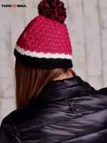 Różowa czapka z pomponem FUNK N SOUL