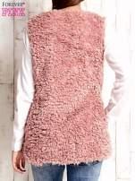 Różowa kamizelka fluffy                                  zdj.                                  4