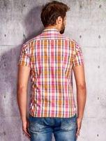 Różowa koszula męska w kratę Funk n Soul