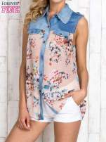 Różowa koszula z kwiatowym motywem