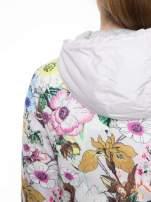 Różowa kwiatowa kurtka bomber jacket z kapturem                                  zdj.                                  8