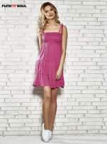 Różowa letnia sukienka w groszki Funk n Soul                                  zdj.                                  7