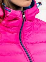 Różowa ocieplana kurtka z kieszeniami                                                                          zdj.                                                                         6