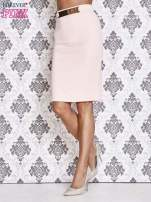 Różowa ołówkowa spódnica w stylu glam                                                                          zdj.                                                                         2