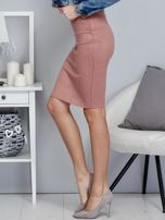 Różowa spódnica z imitacji zamszu                                  zdj.                                  3