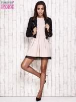 Różowa sukienka dresowa z tiulem w groszki                                                                          zdj.                                                                         2
