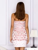 Różowa sukienka w grochy                                   zdj.                                  2