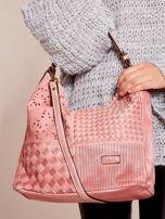 Różowa torba z motywem plecionki                                  zdj.                                  2