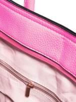 Różowa trapezowa torba miejska