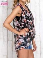 Różowa warstwowa bluzka koszulowa w kwiaty                                  zdj.                                  3