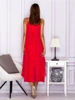 Różowa zwiewna sukienka maxi                                  zdj.                                  2
