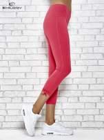Różowe legginsy sportowe 7/8 z wiązaniem                                  zdj.                                  3