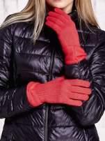 Różowe rękawiczki z kokardą w stylu retro