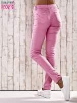 Różowe spodnie skinny jeans biodrówki                                  zdj.                                  3