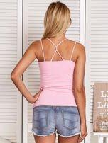 Różowy top z kolorowym printem                                  zdj.                                  2
