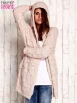 Różowy włochaty sweter z kapturem                                  zdj.                                  5