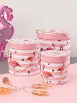 Różowy zestaw pudełek we flamingi                                  zdj.                                  4
