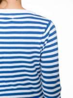 Rozpinany sweter w biało-niebieskie paski z kieszonkami po bokach                                  zdj.                                  6