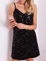 SCANDEZZA Czarna sukienka mini                                   zdj.                                  6