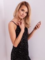 SCANDEZZA Czarna sukienka mini                                   zdj.                                  7