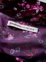 STRADIVARIUS Fioletowa koszula w kwiaty z węzłem                                  zdj.                                  3