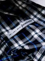 STRADIVARIUS Granatowa koszula w kratę z kieszonkami                                  zdj.                                  3