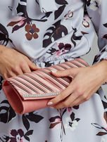 Satynowa elegancka kopertówka z dżetami różowa                                  zdj.                                  4