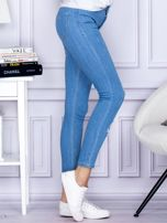 Spodnie jeansowe ripped niebieskie                                  zdj.                                  5