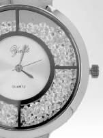 Srebrny zegarek damski na bransolecie ze srebrną cyrkoniową tarczą                                   zdj.                                  6