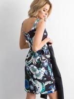 Sukienka czarna odcinana w kwiaty                                  zdj.                                  3