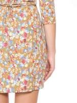 Sukienka w łączkę z marszczonymi rękawkami                                  zdj.                                  12