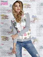 Szara bluza z kapturem i napisem HONOUR