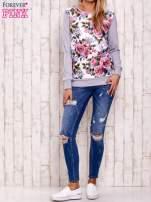 Szara bluza z kwiatowym nadrukiem                                  zdj.                                  2